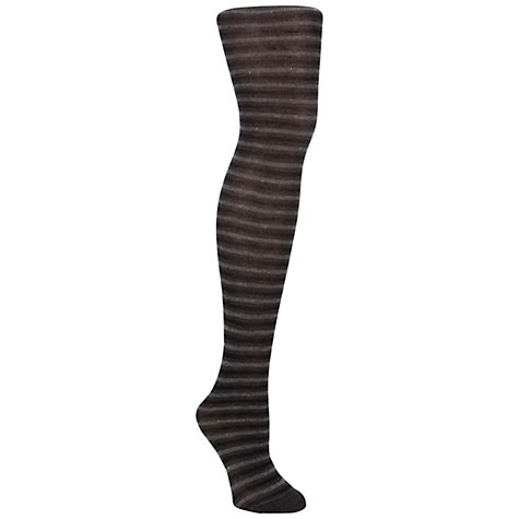 Buy John Lewis Sparkle Stripe Tights, Charcoal/Silver Online at johnlewis.com