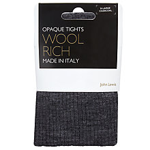Buy John Lewis Wool Ribbed Opaque Tights Online at johnlewis.com