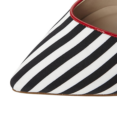 Buy Dune Bigtime Striped Pointed Toe Stiletto Heeled Shoes, Multi Online at johnlewis.com