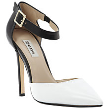Buy Dune Demanding Court Shoes, Black/White Online at johnlewis.com