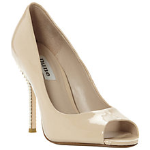 Buy Dune Dray Tiered Heel Peep Toe Court Shoes Online at johnlewis.com