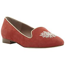 Buy Pied A Terre Gurleen Embroidered Suede Slipper Online at johnlewis.com