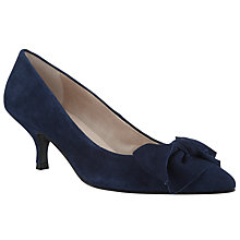 Buy John Lewis Sadie Bow Heels, Navy Online at johnlewis.com