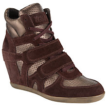 Buy Ash Bea High-Top Wedge Trainers, Prune Online at johnlewis.com