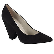 Buy COLLECTION by John Lewis Alba Chunky Heel Point Court Shoes, Black Online at johnlewis.com