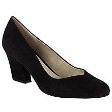 Buy John Lewis Sheila V-Front Court Shoes, Black Online at johnlewis.com