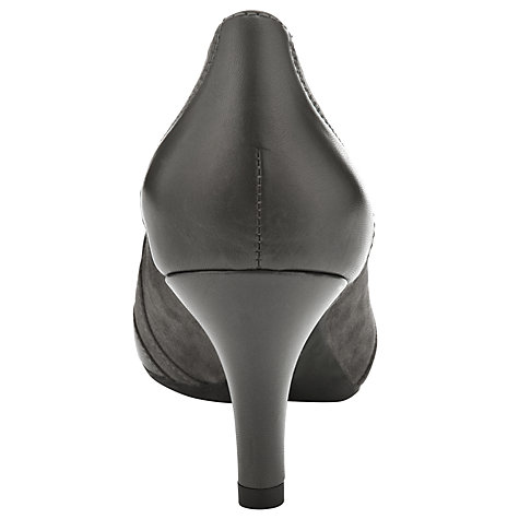 Buy Unisa Maden Tassel Court Shoes, Carbon Online at johnlewis.com