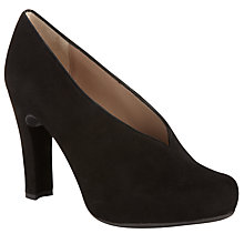 Buy Unisa Wisa High-Cut Court Shoes, Black Online at johnlewis.com