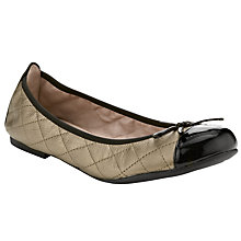 Buy Unisa Alina Ballet Pumps, Metallic/Black Online at johnlewis.com
