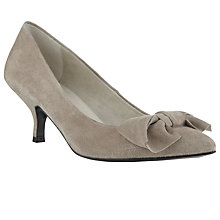 Buy John Lewis Sadie Bow Heels, Beige Online at johnlewis.com