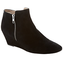 Buy John Lewis Elbota Wedge Ankle Boot, Black Online at johnlewis.com
