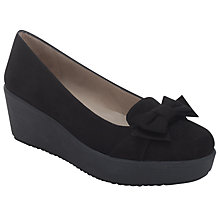 Buy Unisa Fate Bow Flatform, Black Online at johnlewis.com