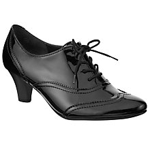 Buy Gabor Devon Patent Court Shoe Boots, Black Online at johnlewis.com