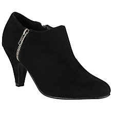 Buy John Lewis Ida Zipped Shoe Boots, Black Online at johnlewis.com