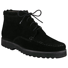 Buy John Lewis Inga Lace-Up Ankle Boots, Black Online at johnlewis.com