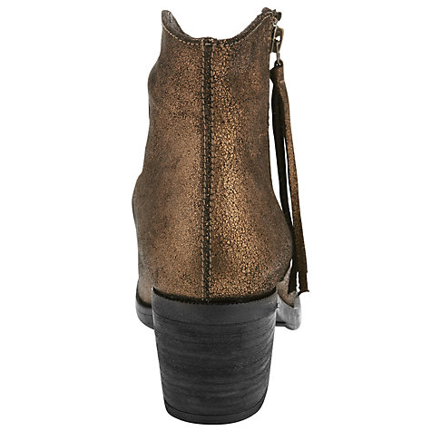 Buy Unisa Gotie Ankle Boots, Gold Online at johnlewis.com