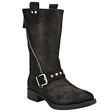 Buy Unisa Iko Calf Boots, Black/Metallic Online at johnlewis.com