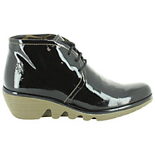 Buy Fly London Pert Leather Wedge Ankle Boots Online at johnlewis.com