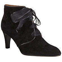 Buy Peter Kaiser Lore Ribbon Lace Ankle Boots, Black Online at johnlewis.com