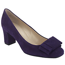 Buy Peter Kaiser Pallau Suede Bow Block Heel Court Shoes Online at johnlewis.com