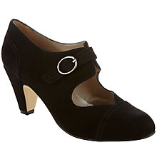 Buy John Lewis Bazonette Mary Jane Buckled Court Shoes, Black Online at johnlewis.com