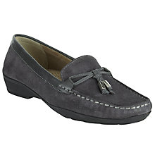 Buy John Lewis Moscow Tied Trim Loafers, Grey Online at johnlewis.com