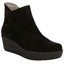 Buy Unisa Fitzu Flatform Ankle Boots, Black Online at johnlewis.com