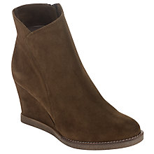 Buy Unisa Riban Wedged Ankle Boots, Moss Online at johnlewis.com