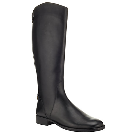Buy John Lewis Gayle Riding Style Knee Boots, Black Online at johnlewis.com