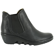 Buy Fly London Phil Leather Ankle Boot, Black Online at johnlewis.com