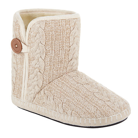 Buy John Lewis Clover Button Slipper Boots Online at johnlewis.com