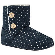 Buy John Lewis Handel Slipper Boots, Navy Online at johnlewis.com