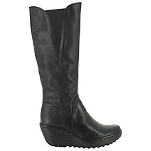 Buy Fly London Yind Leather Knee High Boots Online at johnlewis.com