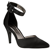 Buy John Lewis Occasion Ermins Cut-Out Pointed Court Shoes, Black Online at johnlewis.com