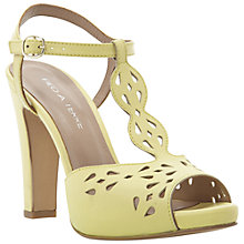 Buy Pied A Terre Lesh Laser Cut Out T-Bar Heeled Sandals Online at johnlewis.com