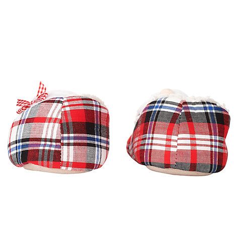 Buy John Lewis Mr & Mrs Klause Slippers, Tartan Online at johnlewis.com