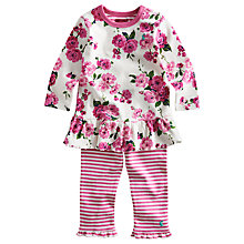 Buy Baby Joule Floral Smock and Leggings, Pink Online at johnlewis.com