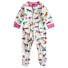 Buy Baby Joule Razmataz Pony Print Sleepsuit, Multi Online at johnlewis.com