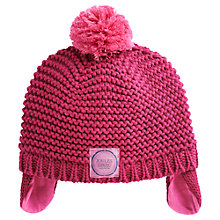 Buy Baby Joule Knitted Ear Flap Hat, Ruby Online at johnlewis.com