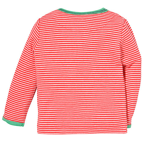 Buy John Lewis Reindeer Stripe Long Sleeve Top, Red Online at johnlewis.com