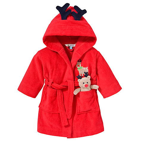 Buy John Lewis Christmas Reindeer Robe and Soft Toy Online at johnlewis.com