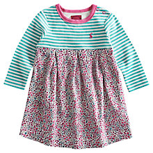 Buy Baby Joule Hayley Stripe Ditsy Print Dress, Pink/Aqua Online at johnlewis.com