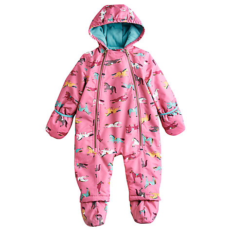 Buy Baby Joule Everly Pony Print Snow Suit, Pink Online at johnlewis.com