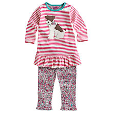 Buy Baby Joule Applique Dog Floral Tunic and Leggings Set, Pink Online at johnlewis.com