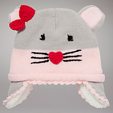 Buy John Lewis Mouse Hat, Grey Online at johnlewis.com