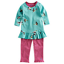 Buy Baby Joule Tasha Duck Smock and Legging Set, Aqua/Pink Online at johnlewis.com