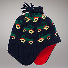 Buy John Lewis Tractor Trapper Hat, Navy Online at johnlewis.com