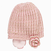 Buy John Lewis Flower Ear Hat, Pink Online at johnlewis.com