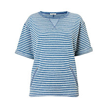 Buy Whistles Milly Zip Pocket Jumper, Blue Online at johnlewis.com