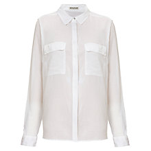 Buy Whistles Freya Soft Cotton Shirt, White Online at johnlewis.com